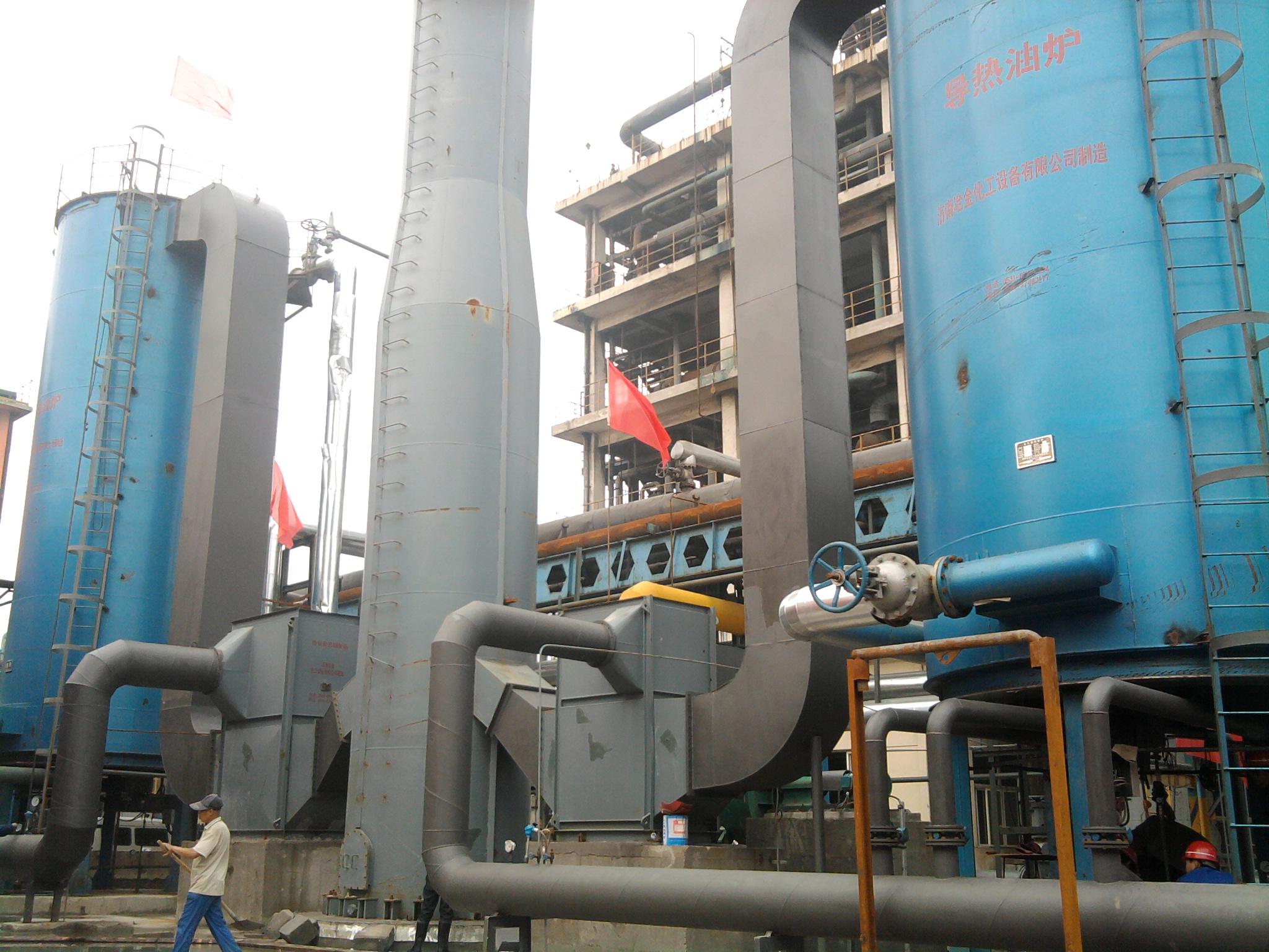 有机热载体加热炉充分利用煅烧炉尾气的余热作为能源,采取了热载体炉